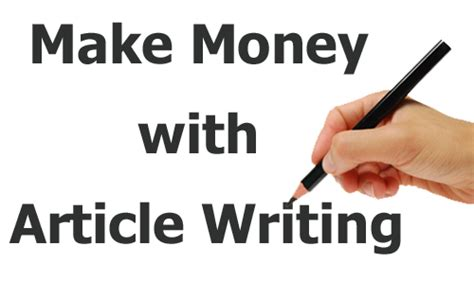 How To Make Money Writing Articles Online - how to make money online by writing howsto co
