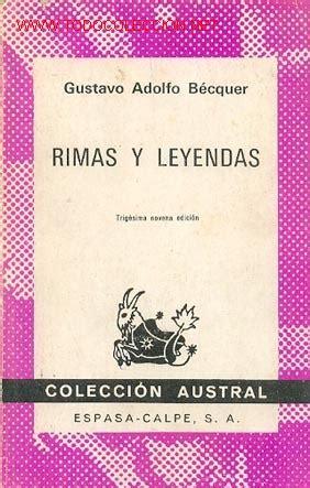libro rmas de gustavo a gustavo adolfo becquer rimas y leyendas cole comprar libros de poes 237 a en todocoleccion