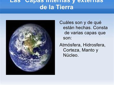 la tierra que pisamos 8432232831 presentaci 243 n de las capas de la tierra copia