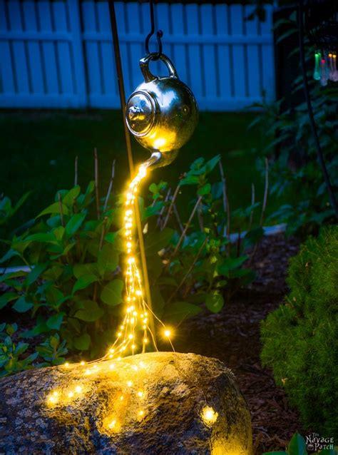 diy solar lights outdoor diy spilling solar lights aka teapot lights the navage