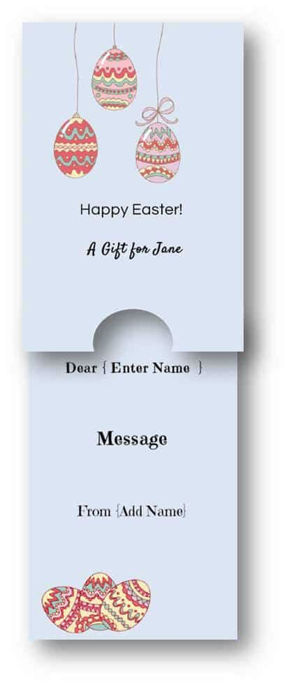 Whatever You Want Gift Card Template custom easter gift cards