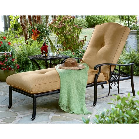 agio patio furniture reviews agio aac13302 amalfi cushioned chaise lounge with pillow sears outlet
