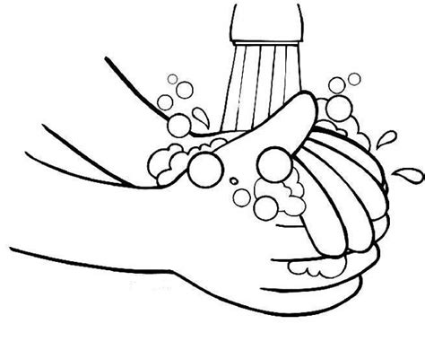 Wash Your Hands Coloring Image Clipart Best Coloring Page Of A
