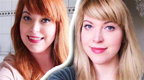 haare blondieren von rot zu blond ohne gelbstich