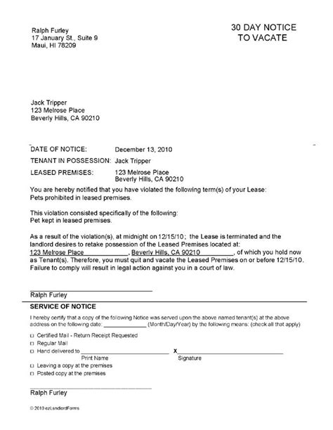 Printable Sle Notice To Vacate Template Form Real Estate Forms Word Pinterest Template Rental Notice To Vacate Template