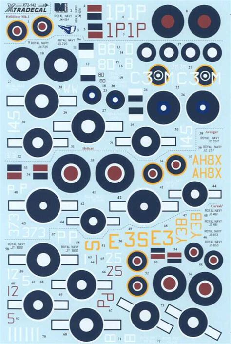 Xtra Decals 1/72 YANKS WITH ROUNDELS U.S. Aircraft Fleet ... Xtra Decals