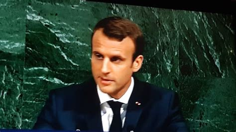 emmanuel macron unga french president macron was very applauded at unga 72th