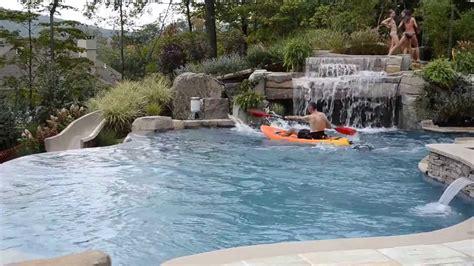 pool designs with slides fun inground swimming pool design with slide kayaking