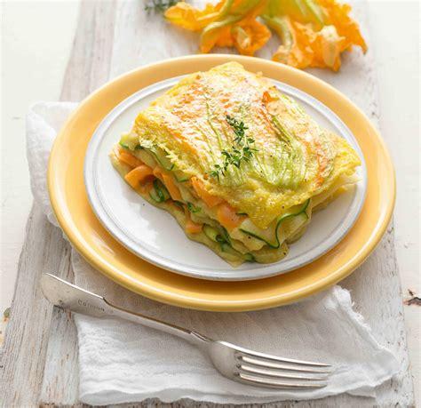 lasagne con zucchine e fiori di zucca lasagne vegetariane lasagne ai fiori di zucca