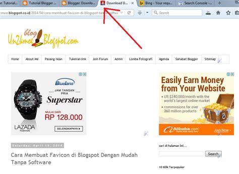 tutorial membuat blogspot 2015 cara mudah membuat favicon blog tanpa software tutorial