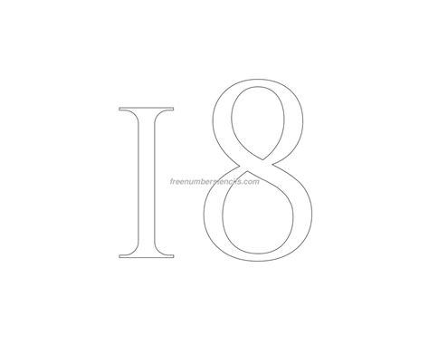 number 18 template free 18 number stencil freenumberstencils