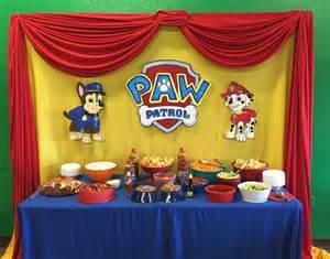 paw patrol table ideas paw patrol snack table paw patrol