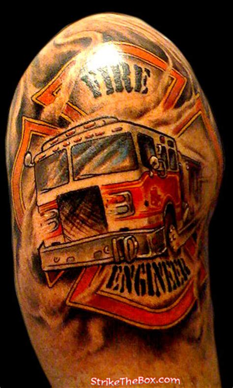 strike the box firefighter tattoos