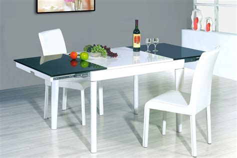 Dining Table With Different Chairs The Most Sophisticated White Leather Dining Chairs