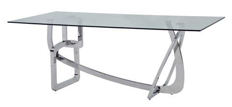 modrest adelaide modern stainless steel glass dining table