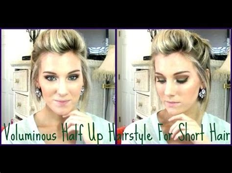 Voluminous Half Up Style For Short Hair/ A  Line Bob   YouTube