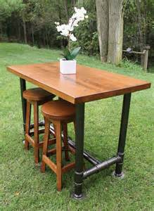 Industrial farmhouse table kitchen island oil rubbed bronze with 2