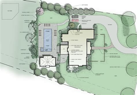 residential site plan residential master plan autocad photoshop conceptual