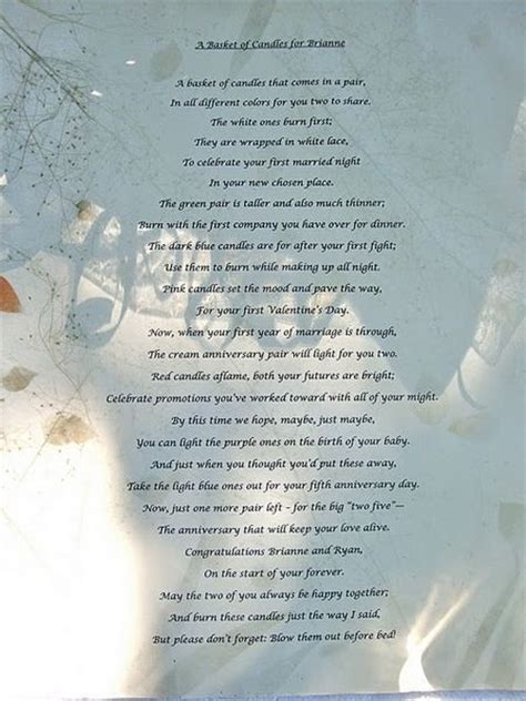 Candle Poem For Bridal Shower by Fit Figures Manual To Keep Fit And Healthy