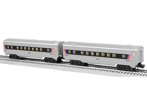 30169 new jersey transit ready to run set nj transit o27 streamlined passenger car 2 pack