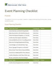 Event Planning In Event Planning Checklist