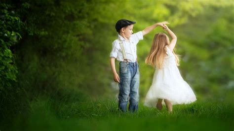 wallpaper of girl and boy together a cute little dance photography hd wallpaper 1920x1080