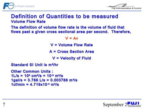 pipe cross sectional area formula basic flow measurement