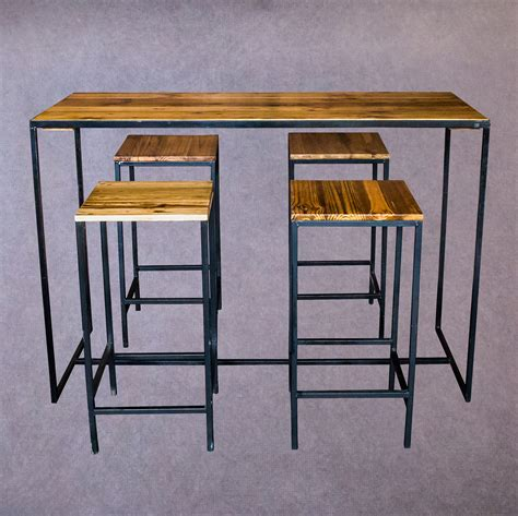 steel bar table frame steel frame wooden bar tables flamboijant decor hire