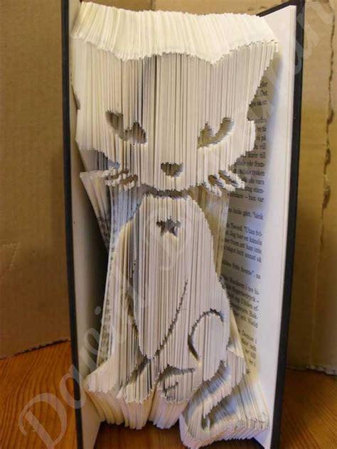 Cut And Fold Paper Crafts - mystical cat combi cut fold book folding pattern