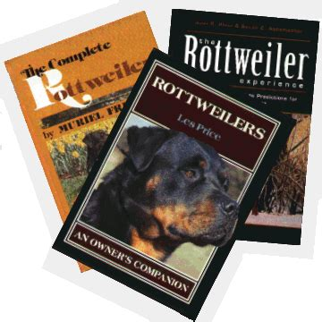 rottweiler books the rottweiler club of canada recommended reading on line bookstore