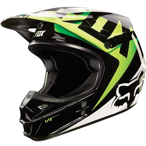second motocross gear fox racing v1 race mx snell helmet kawasaki green large