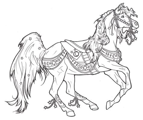 coloring pages of carousel horses carousel celestial by requay on deviantart