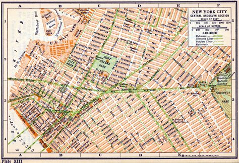 Brooklyn New York Map by New York City Central Brooklyn 1800 1900 Fiona Barry