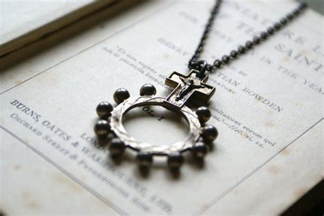 Handmade In Ireland - vintage penal ring rosary pendant handmade in ireland