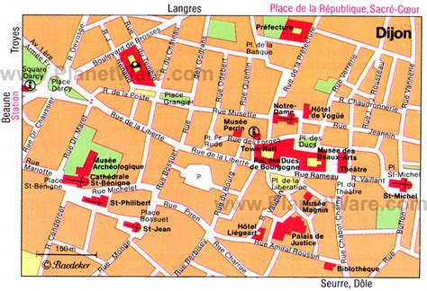 dijon map 10 top tourist attractions in dijon planetware