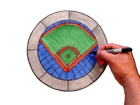 How To Draw A Baseball Field For