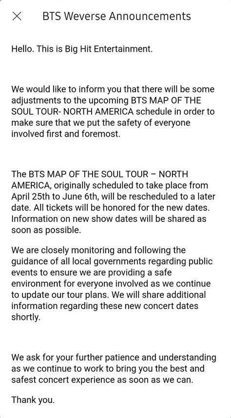 BTS Resmi Tunda Tur Konser 'Map of the Soul