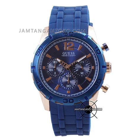 Jam Tangan Guees Rubber harga sarap jam tangan guess caliber blue rubber