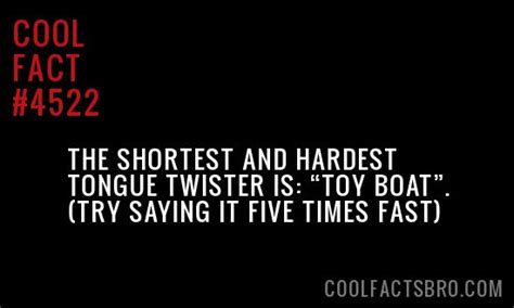 toy boat tongue twister the shortest and hardest tongue twister is quot toy boat
