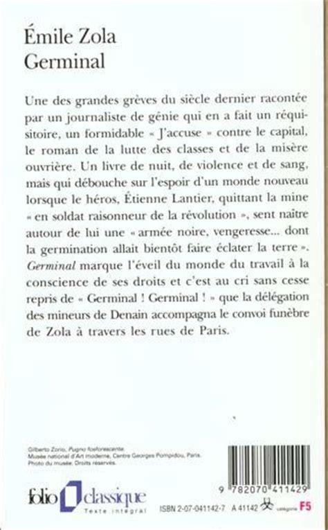 libro germinal folio gallimard livre germinal 201 mile zola