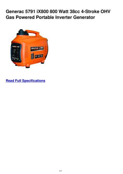 Bac A 5791 by Generac 5791 Ix800 800 Watt 38cc 4 Stroke Ohv Gas Powered