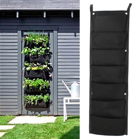 outdoor wall hanging planters kcasa hg gp1 7 pocket indoor outdoor wall hanging planter