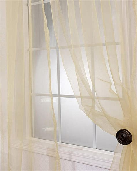 gold sheer curtain panels soft gold faux organza sheer curtain panel pair