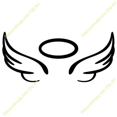 wings clip halo clipart black pencil and in color halo