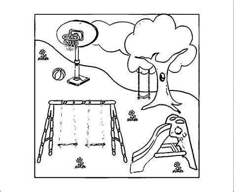 100 How To Draw Sliding Playground Taking The Play Playground Coloring Pages