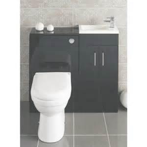 Alliance lomond floor standing vanity unit and w c unit gloss