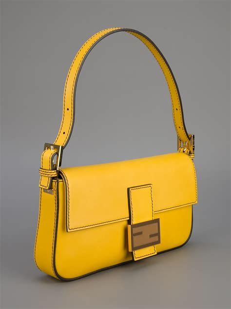 Wallet Fendi Mirror Hitamyellow lyst fendi baguette bag in yellow