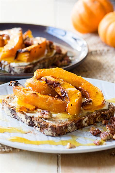 roasted pumpkin on toast a delicious autumn breakfast the worktop