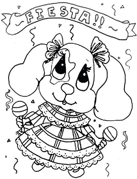 fiesta coloring pages free printable fiesta mexican coloring pages birthday printable