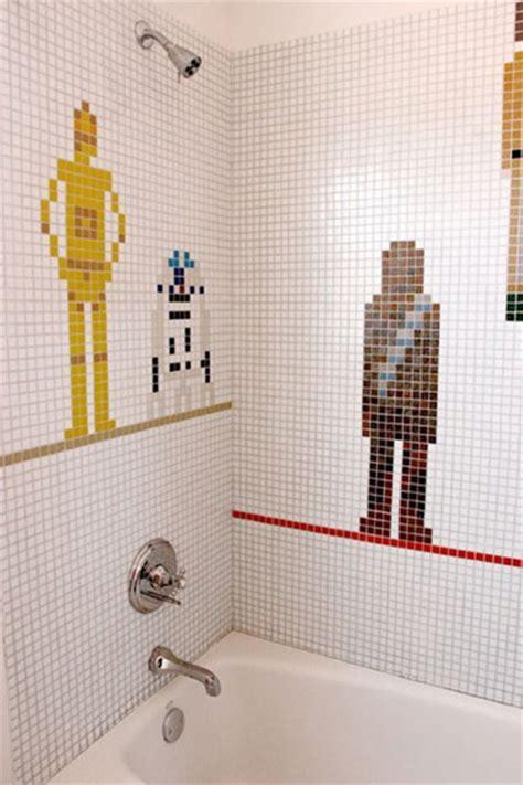star wars bathroom ideas mosaicos para las paredes de tu ba 241 o decoraci 243 n de